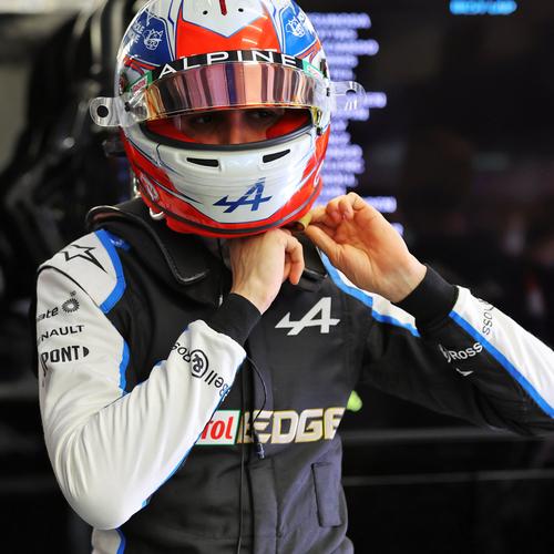 Photo of Esteban Ocon 2021 Framed Signed Race-worn Race Suit - Monaco GP