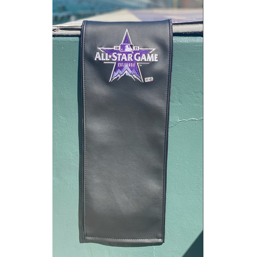 Photo of 2021 All-Star Game Clubhouse Chair Panel from Omar Narvaez' Locker Chair