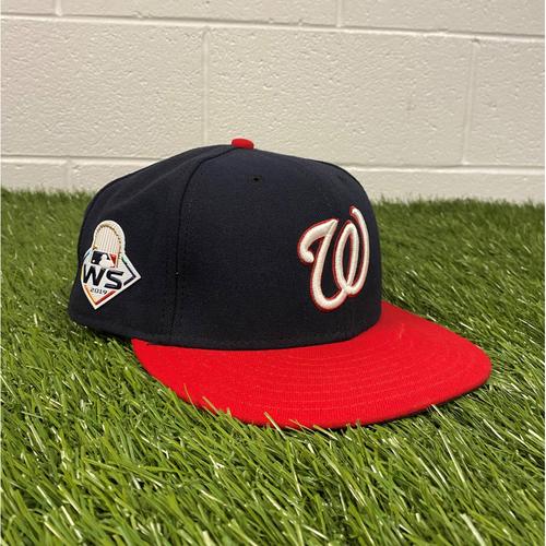 Photo of Asdrubal Cabrera Game-Used 2019 World Series Hat