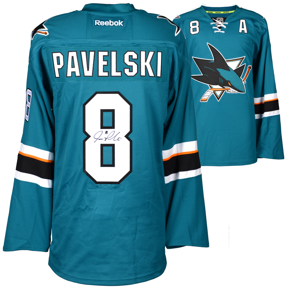 Joe Pavelski San Jose Sharks Autographed Teal Reebok EDGE Jersey