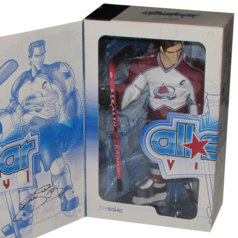 Joe Sakic Autographed Colorado Avalanche Upper Deck Vinyl Figurine