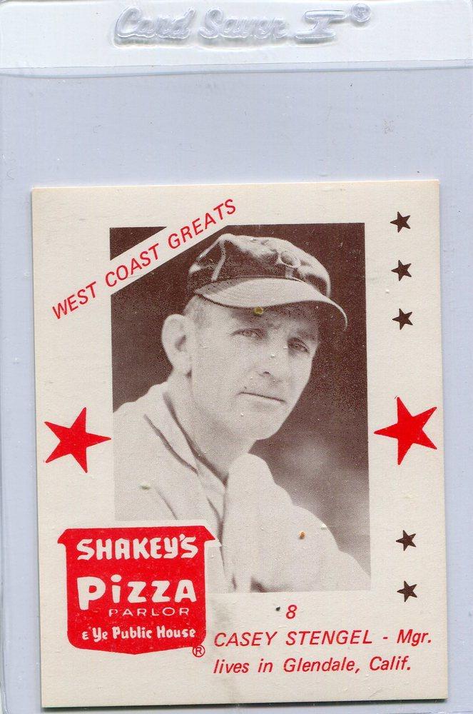 1975 Shakey's Pizza #8 Casey Stengel