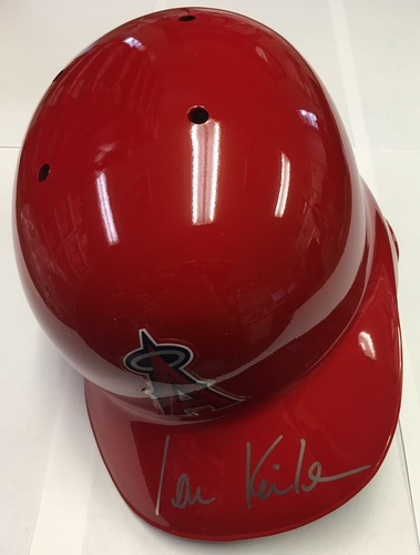 Photo of Ian Kinsler Autographed Angels Batting Helmet