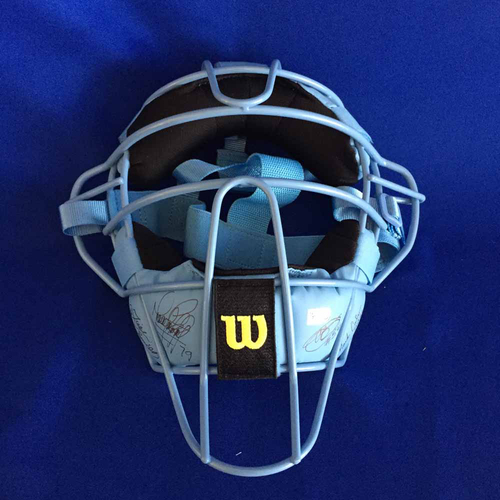UMPS CARE AUCTION: 2017 Father's Day Crew Signed Plate Mask - Not MLB Authenticated