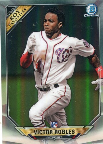 Photo of 2018 Bowman Chrome Rookie of the Year Favorites Refractors #ROYFVR Victor Robles