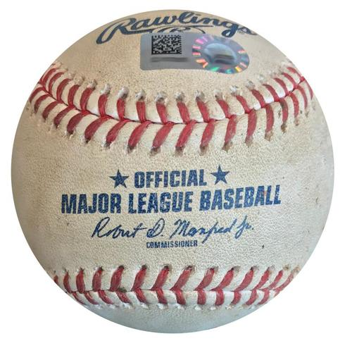 Photo of Game-Used Baseball from Pirates vs. Nationals on 7/10/18 - Juan Soto Foul