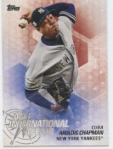 Photo of 2018 Topps Update An International Affair #IA9 Aroldis Chapman