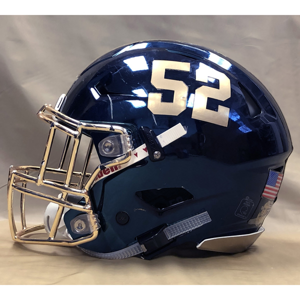 Photo of #52 Game Worn  Fear the Goat Army/Navy Game Football Helmet