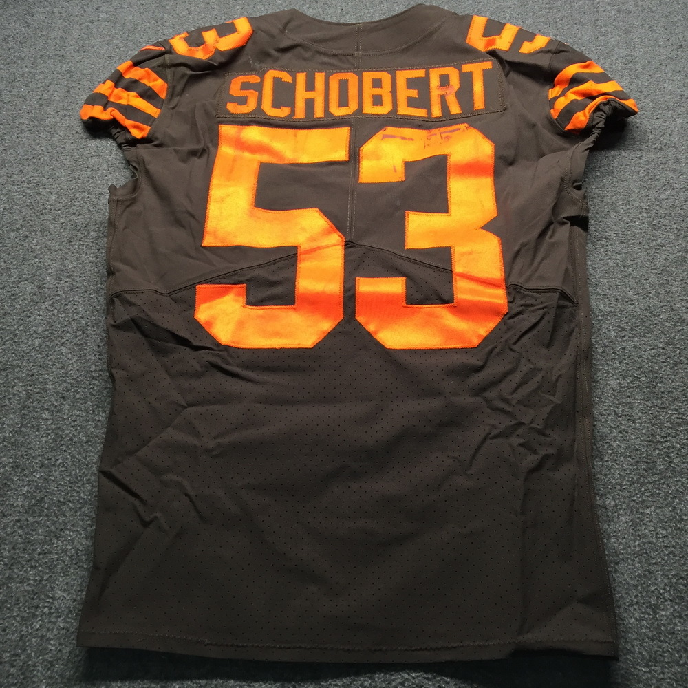 huge discount 775d6 ea9fa NFL Auction | Crucial Catch - Browns Joe Schobert Game Used ...