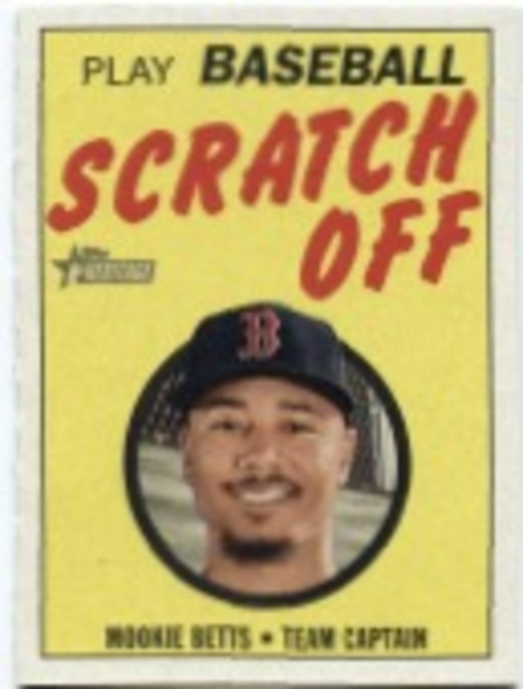2019 Topps Heritage '70 Topps Scratch Offs #23 Mookie Betts