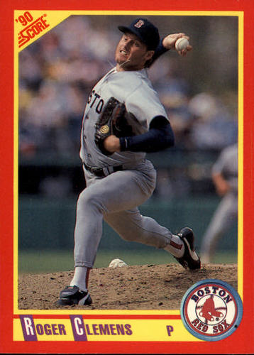 Photo of 1990 Score #310 Roger Clemens UER/Dominate, should/say dominant