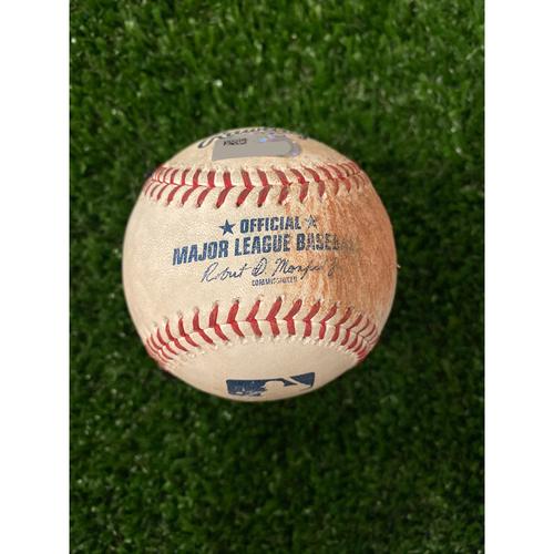 Photo of Joc Pederson Game Used Hit Single Baseball - 8/16/2019