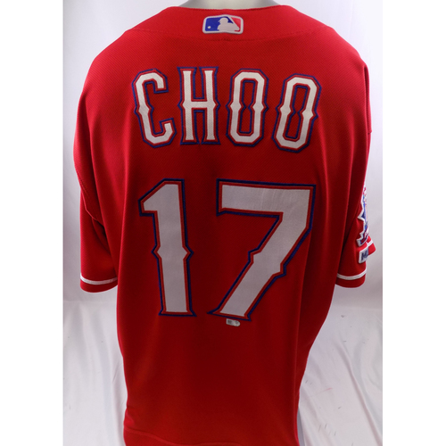 Photo of Red Game-Used Jersey - Shin-Soo-Choo  - 3/30/19, 9/15/19
