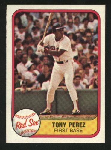 Photo of 1981 Fleer #241 Tony Perez