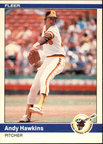 Photo of 1984 Fleer #302 Andy Hawkins
