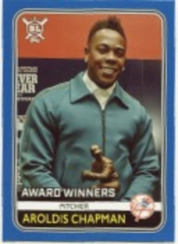 Photo of 2020 Topps Big League Blue #278 Aroldis Chapman AW