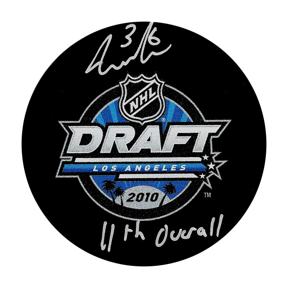 Jack Campbell Autographed 2010 NHL Entry Draft Puck w/11th OVERALL Inscription
