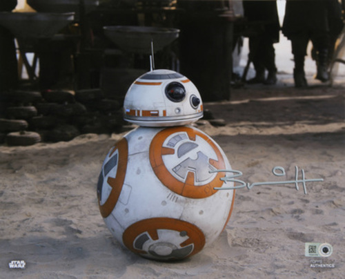 Brian Herring as BB-8 Autographed Silver Ink 16x20 Photo