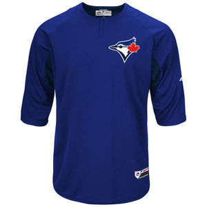 Toronto Blue Jays Authentic Collection Batting Practice 3/4 Sleeve Jersey by Majestic