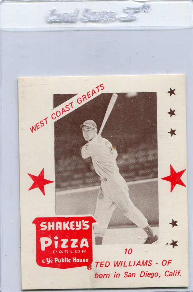 1975 Shakey's Pizza #10 Ted Williams