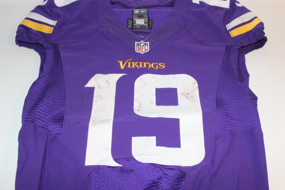 NFL Auction | STS - VIKINGS ADAM THIELEN GAME WORN VIKINGS JERSEY ...
