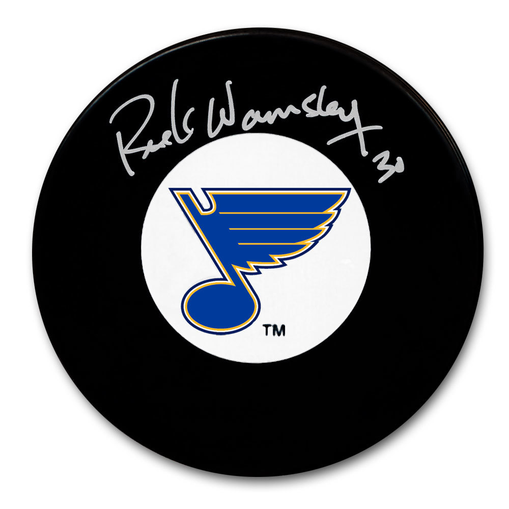 Rick Wamsley St. Louis Blues Autographed Puck
