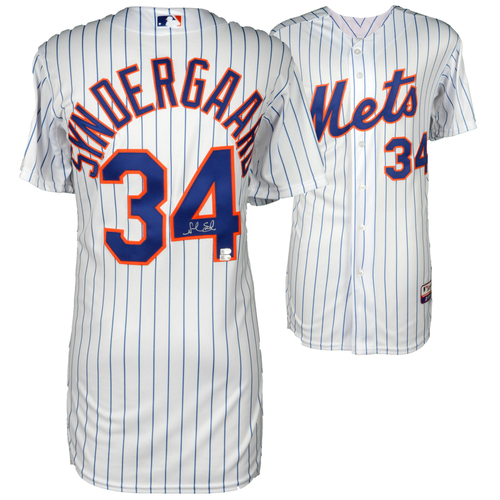 Photo of Noah Syndergaard New York Mets Autographed Majestic White Authentic Jersey