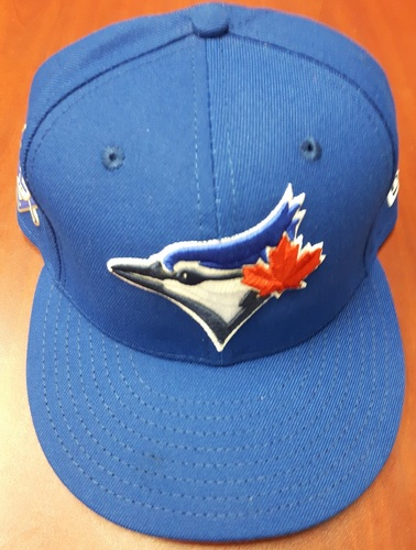 Photo of CHARITY AUCTION: Authenticated Game Used #42 Cap - Teoscar Hernandez (May 3, 2018: 1-for-6 with 1 Double, 2 Runs, 1 Stolen Base and 1 Walk). Size 7 1/2