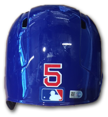 Photo of Albert Almora Game-Used Cracked Batting Helmet -- Size 7 1/8 -- Marlins vs. Cubs -- 5/8/18
