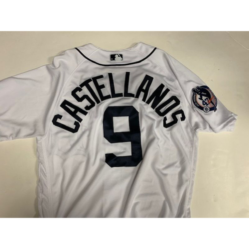 Photo of Game-Used Jack Morris Number Retirement Day Jersey: Nicholas Castellanos