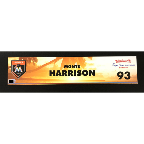 Photo of Game Used Locker Tag: Monte Harrison