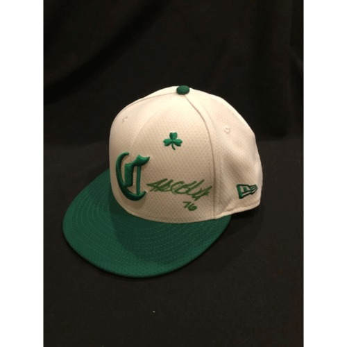 Photo of Buddy Boshers -- Autographed & Game-Used Cap -- 2019 St. Patrick's Day
