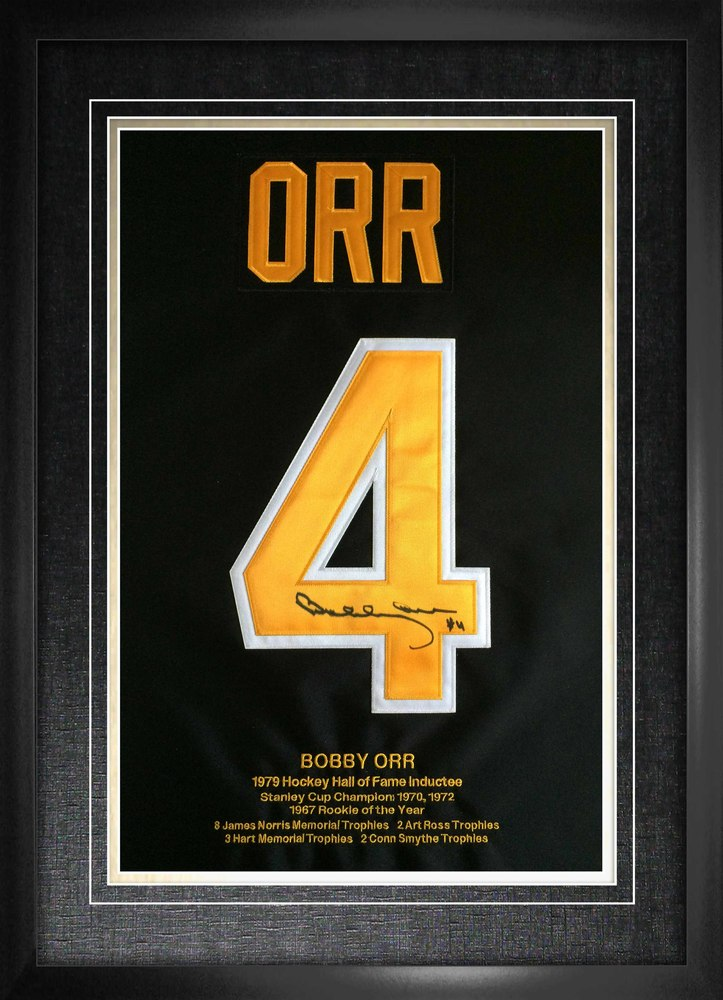 Bobby Orr Signed Numbers Framed Bruins