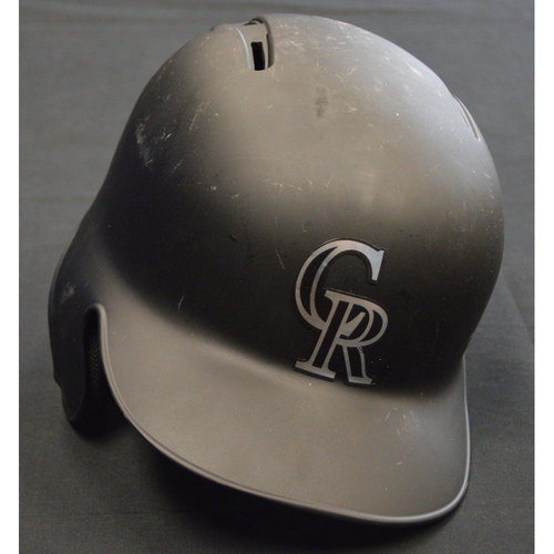 "Photo of Charlie ""Chuck Nazty"" Blackmon Colorado Rockies Game-Used 2019 Players' Weekend Helmet - Size 7 1/4"