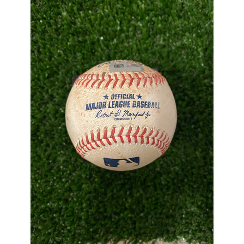 Photo of Justin Turner Game Used Hit Single Baseball - 8/17/2019