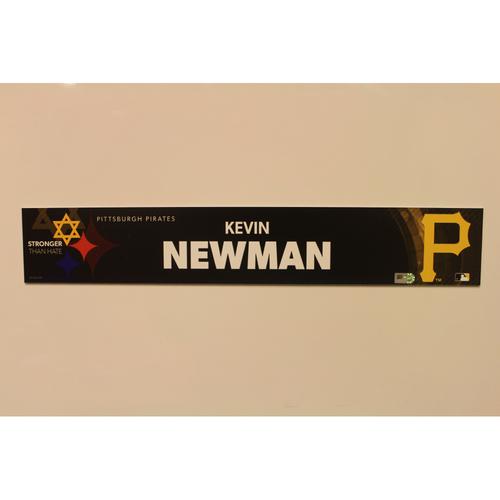 2019 Game Used Locker Nameplate - Kevin Newman