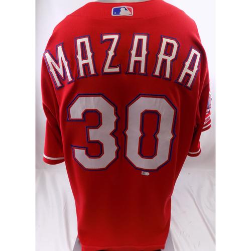 Photo of Red Game-Used Jersey - Nomar Mazara - 3/30/19, 9/15/19
