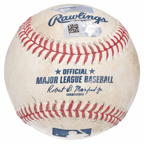 Photo of New York Yankees Game-Used Baseball vs. Arizona Diamondbacks on July 31, 2019