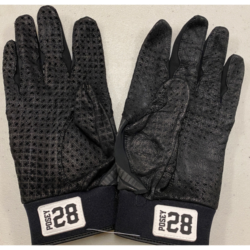 Photo of 2020 Black Friday Sale - #28 Buster Posey Team Issued Black Marucci Batting Gloves