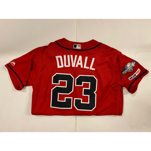 Photo of Adam Duvall 2019 Team Issued Red Jersey