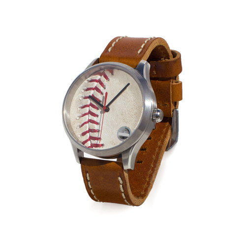Photo of Tokens & Icons Milwaukee Brewers Game Used Baseball Watch