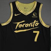 Kyle Lowry - Toronto Raptors - Game-Worn City Edition Jersey - 2020-21 NBA Season