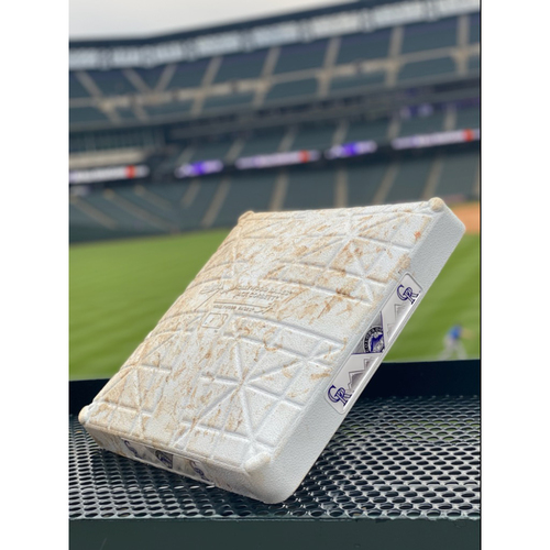 Photo of Game-Used 1st Base - Innings 1-3: June 14th, 15th, and 16th - Padres at Rockies