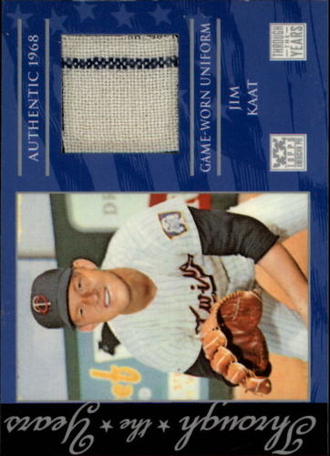Photo of 2002 Topps American Pie Through the Years Relics #JK Jim Kaat Uniform