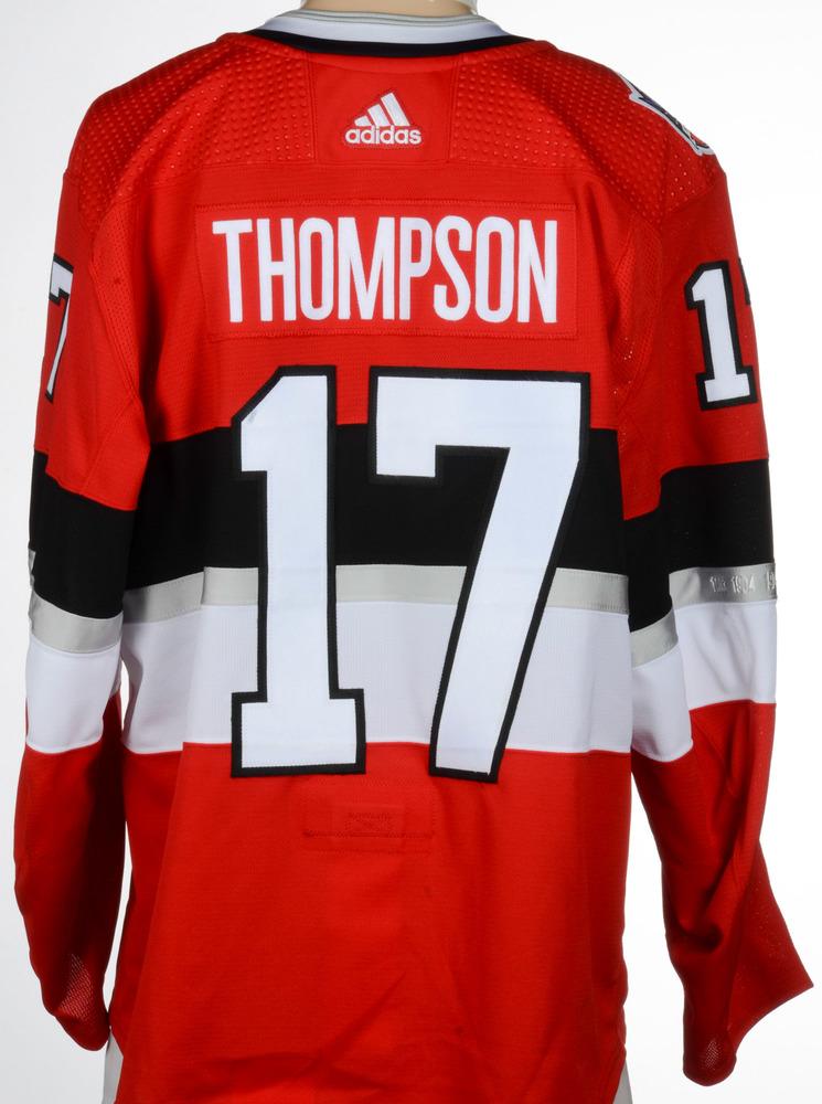 new styles 69bb0 95c47 Nate Thompson Ottawa Senators Game-Worn 2017 NHL100 Classic ...