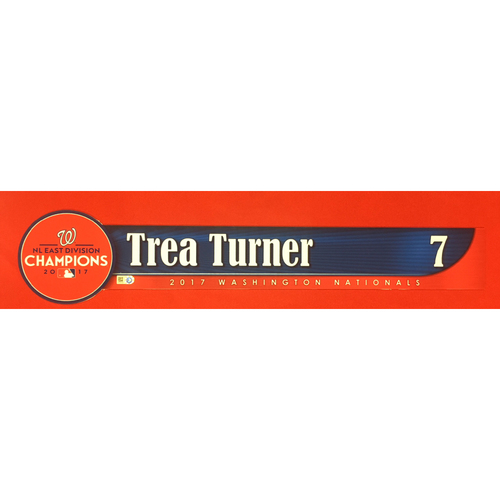 Photo of Game-Used Locker Name Plate: Trea Turner