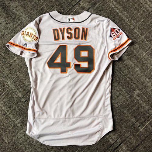 Photo of San Francisco Giants - Mother's Day Game-Used Jersey - #49 Sam Dyson (size 46)