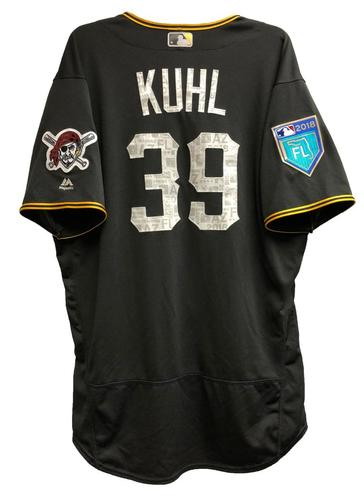 Photo of Chad Kuhl Game-Used 2018 Spring Training Jersey