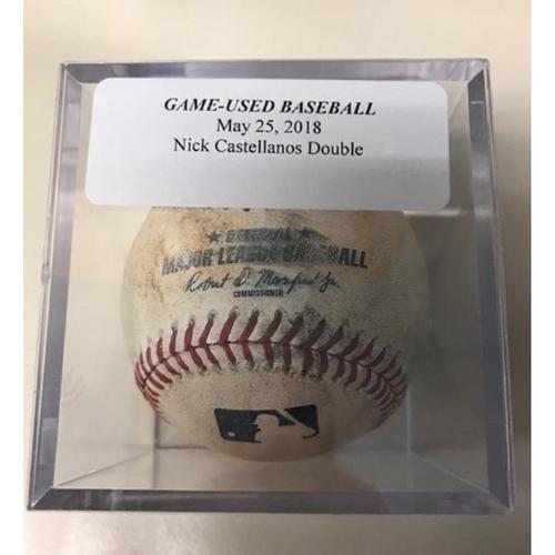 Photo of Game-Used Baseball: Nicholas Castellanos Double