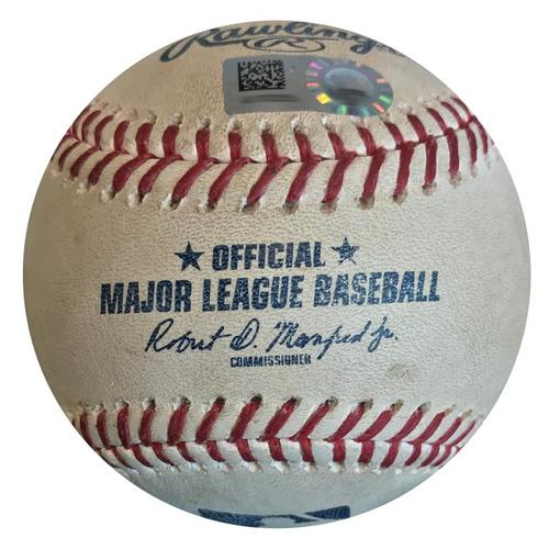 Photo of Game-Used Baseball from Pirates vs. Nationals on 7/11/18 - Gio Gonzalez Double